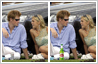 Prince Harry with Chelsy Davy and a bottle of Stella Artois beer