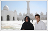 Photo editing: Actor Salman Khan has been added to a photo of a woman at a mosque in Abu Dhabi