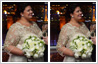 Bride slimming in wedding photos