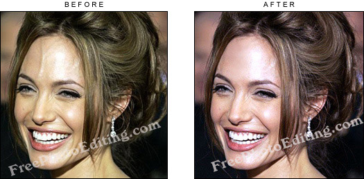 photo enhancement face retouch in celebrity images