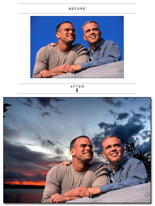 Sunset photo background editing  Change or replace background