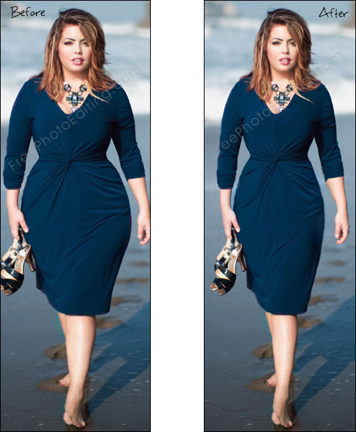 Slenderize, slimming and skinny photo editing service | Photo