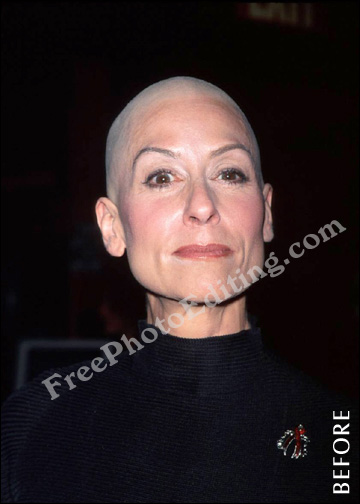 Free Photo Retouching Hair Makeover For Bald Judith Light