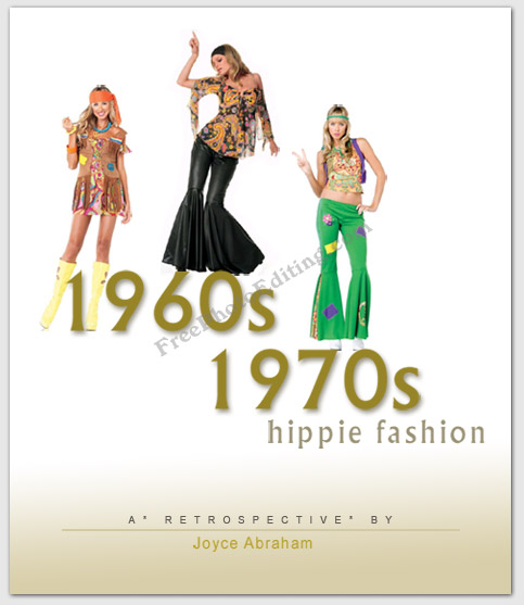 ... Retrospective cover design made from 1960s-1970s hippie fashion photos